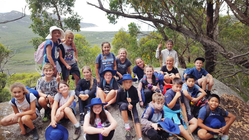 Wonthaggi-North-Primary-year-6-students-on-top-of-mountain-for-school-camp